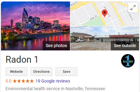 Google Reviews of Radon 1 Company